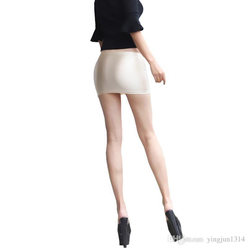 Frauen Booty Rock-Kurzschluss Micro MiniBodycon Stretch-Schlauch-Partei Shiny Spandex Sexy Extra-Diskothek Nachtwäsche