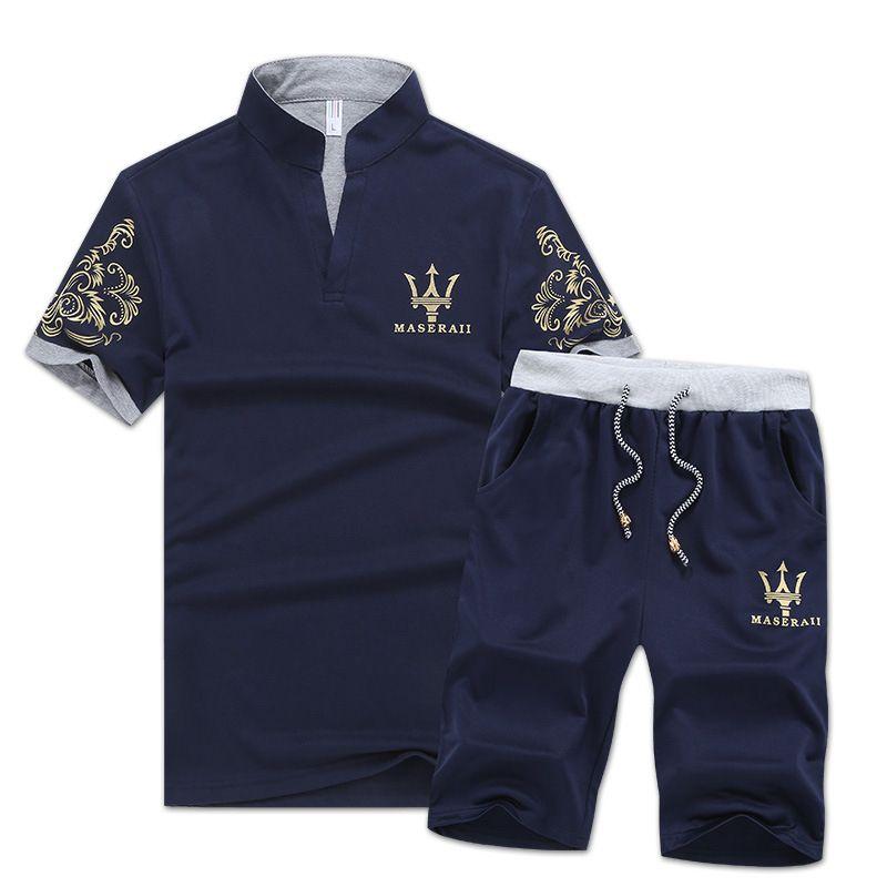 Sporting New Summer Men Sportswear Sets T-shirts+pants 2 Pieces Sets Men Hip Hop Casual Loose Sets Half Sleeve T-shirts+slim Pants Men's Clothing