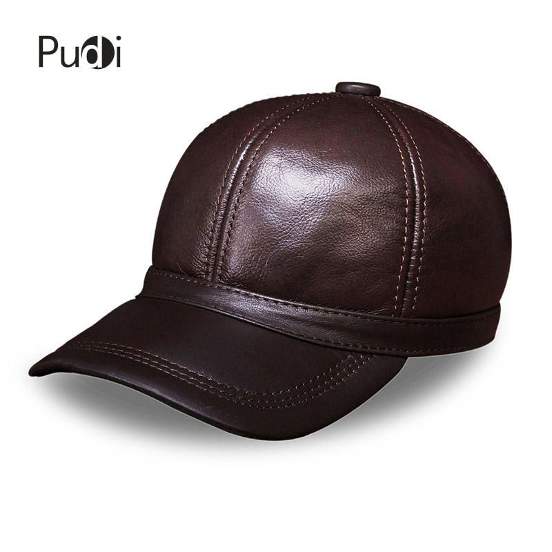 Compre Hl097 Hombres De Cuero Genuino Gorra Gorra De Béisbol A Estrenar  Moda Para Hombre Sombreros De Cuero Real   Gorras Con es A  26.04 Del Pudi   26299eb81aa