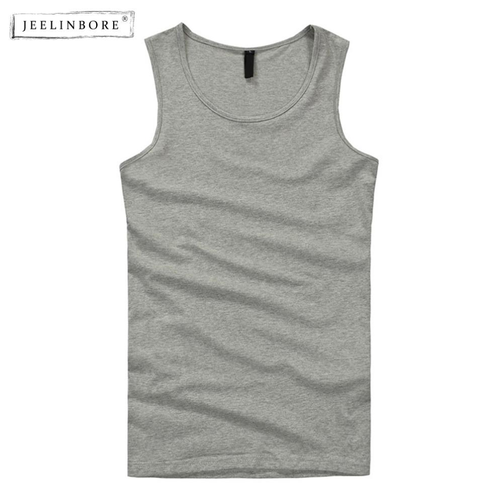 feba9254e3 2019 JEELINBORE Summer New Brand Men'S 95% Cotton O Neck Tank Tops  Breathable Male Sleeveless V Neck Vest From Liangcloth, $24.93 | DHgate.Com