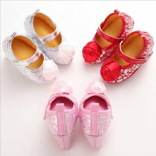 82956f0f4a0 Toddler Baby Girl Shoes with High Heels for Photos Princess Bowknot Crib  Shoes pudcoco Pretty Baby Girl Bowknot Black White pink