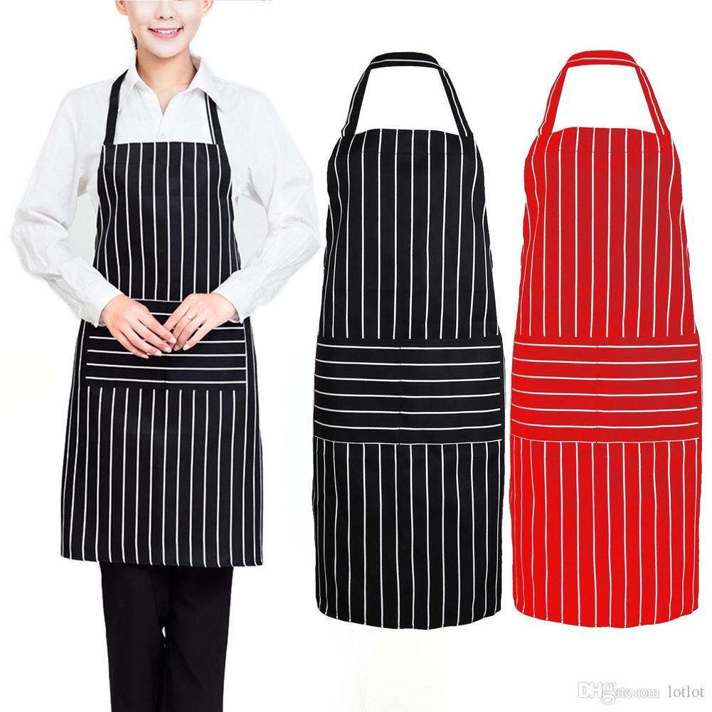 Полоса кухня Фартук для женщин мужчины полезная кулинария фартук сетка регулируемая шеф-повар ткань бытовой очистки инструменты аксессуары