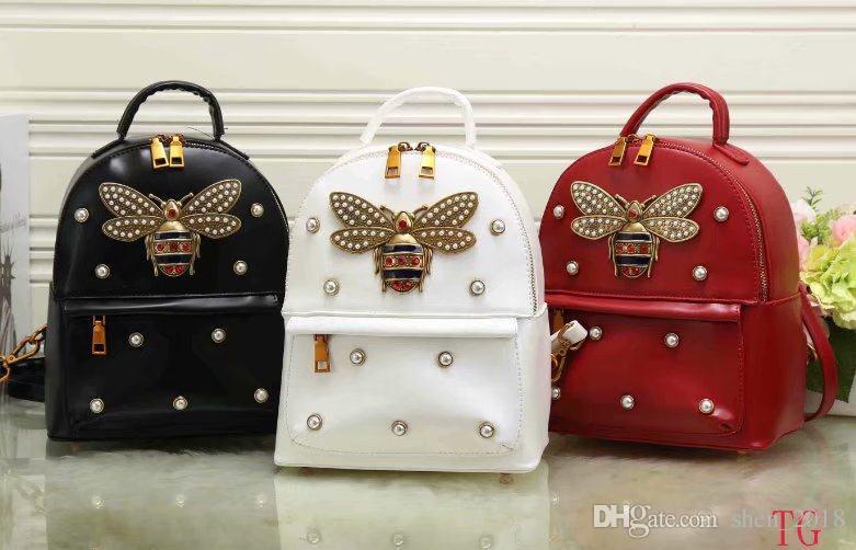 e2746455d2 Fashion G Designer Women Backpack 2018 New Luxury Brand Womens Black Red  White Fashion Backpacks Handbag G Female Shoulder Bag Gregory Backpacks  Army ...
