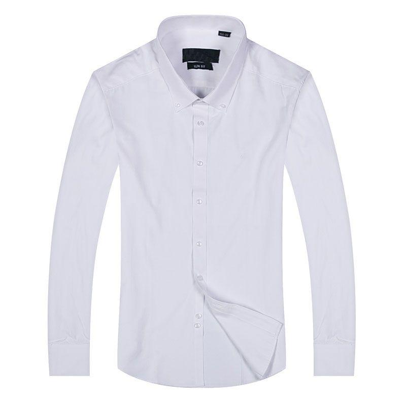 2017 homens camisa estilo clássico patchwork camisa dos homens camisas de moda marca de manga longa horizontal polo dos homens camisas casuais branco masculino