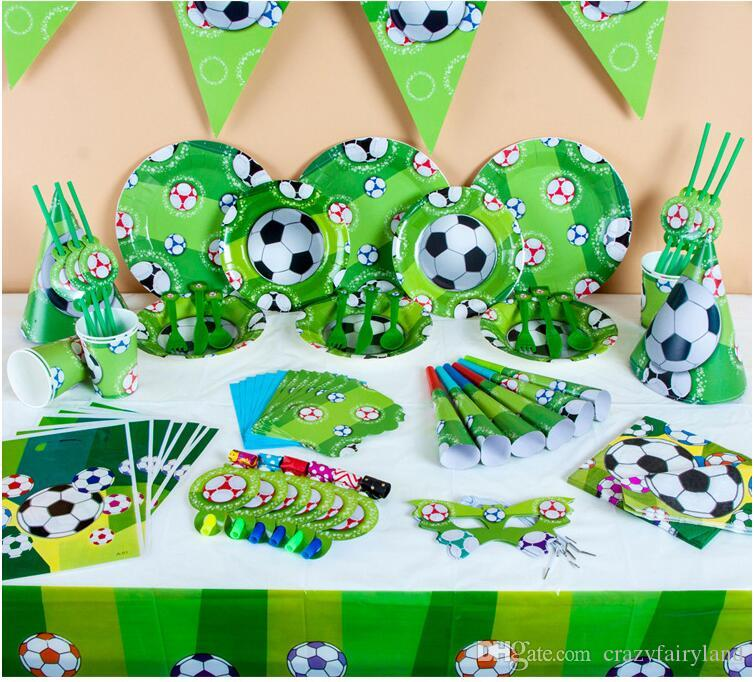 Football Birthday Party Tableware Set Napkin Cups Tablecloth Flag Straw Kids Favor Boys Party Decoration Tablecloth Kids Boys Favors Birthday Party ...  sc 1 st  DHgate.com & Football Birthday Party Tableware Set Napkin Cups Tablecloth Flag ...