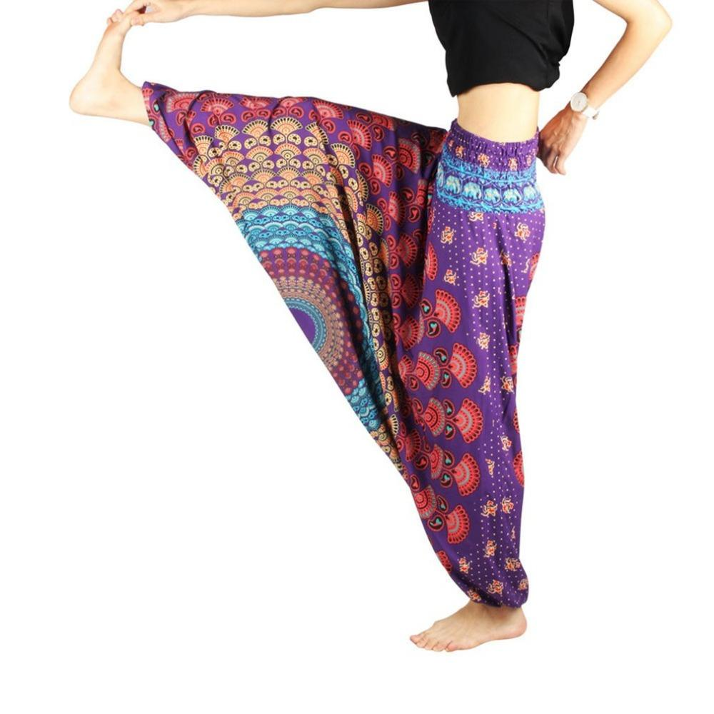 4cc747752f 2019 Women Yoga Pants Girls Dancing TaiChi Wear Ethnic Style Digital  Printing Trousers Hip Pop Dance Clothing Wide Leg Pants Dropship From  Monida, ...