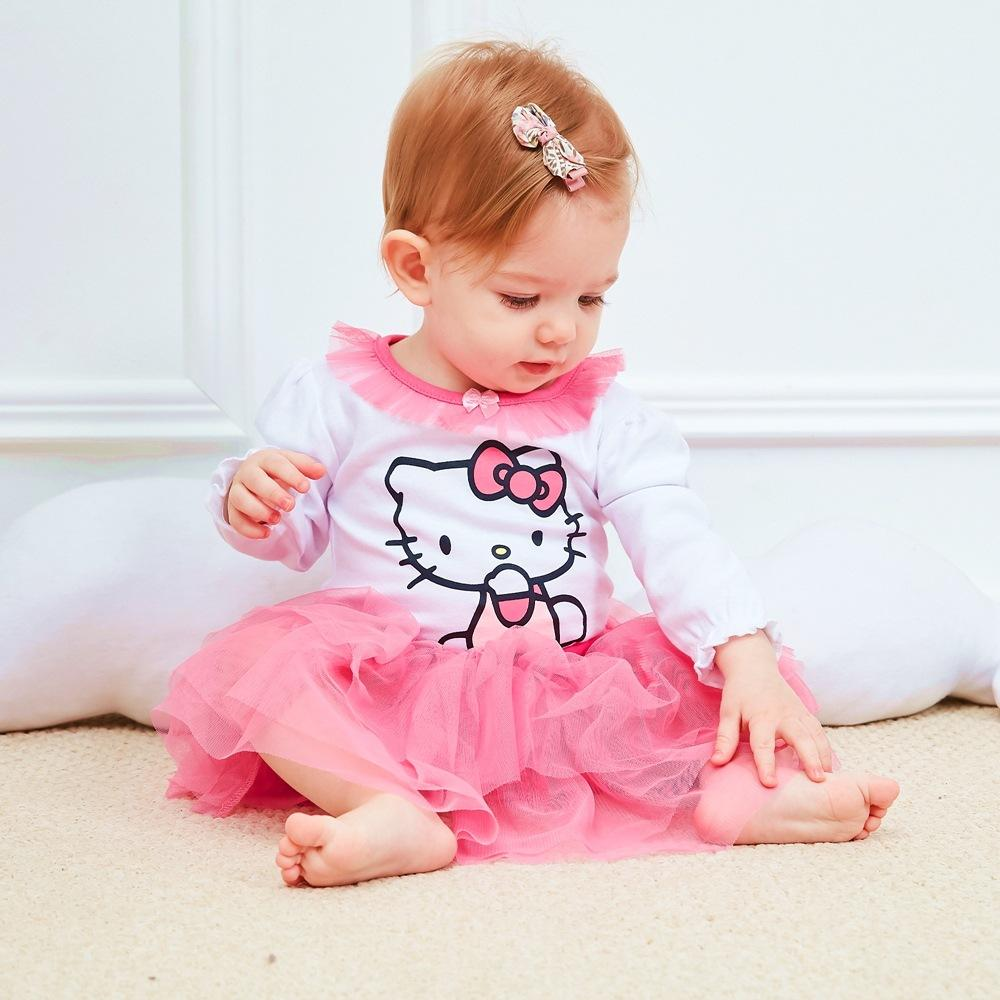 945eb9c69 2019 Baby Romper Baby Girl Clothes Infant Princess HelloKitty Jumpsuit Tutu Dress  Clothing Set From Clever_baby, $7.88 | DHgate.Com
