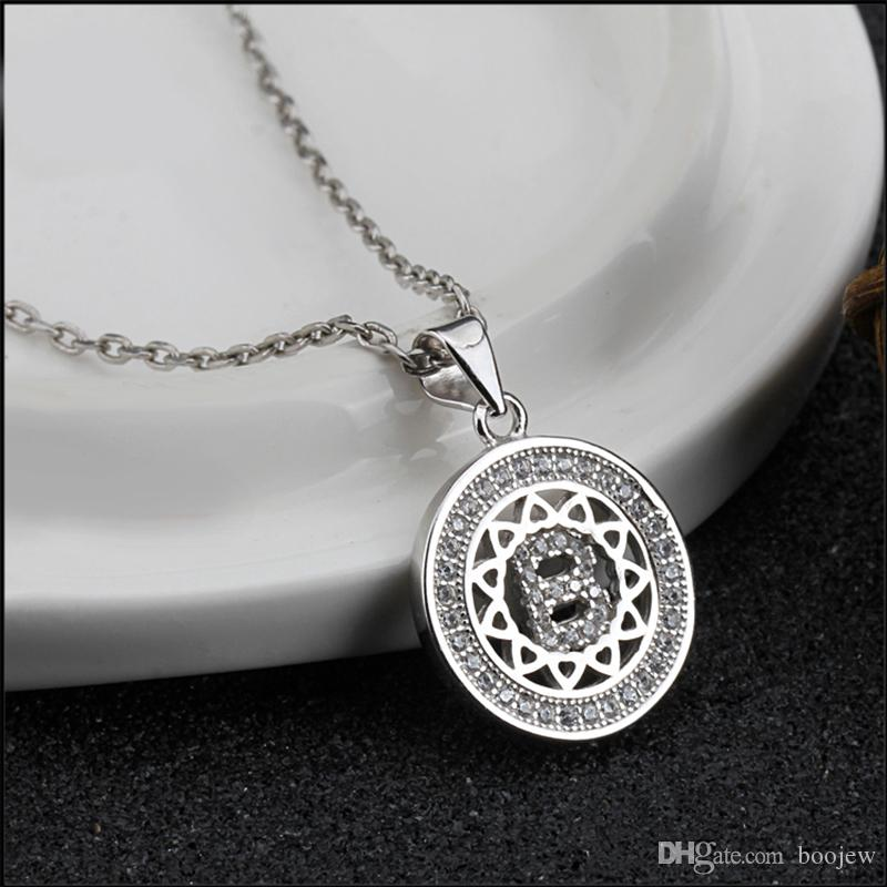 2018 Hot Sell Beautiful Fashion Statement Jewelry Real 925 Silver Letter B Pendant Necklace For Women