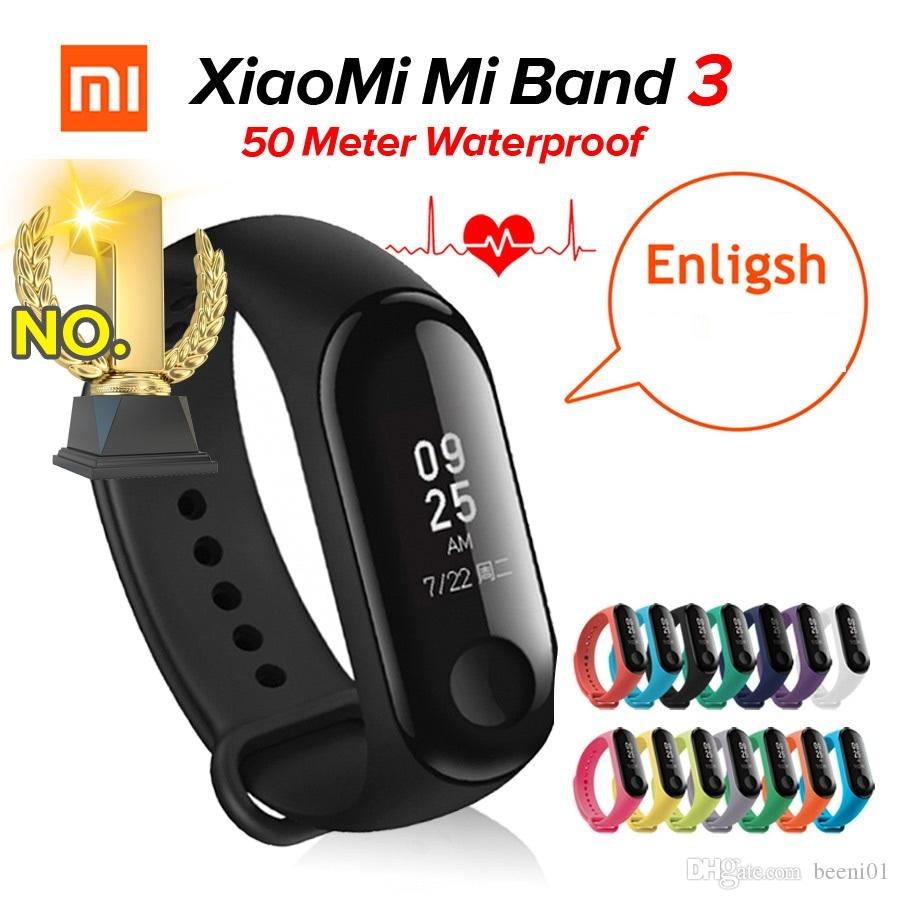 a4833fda972 In Stock Xiaomi MiBand 3 Mi Band 3 Fitness Tracker Heart Rate ...