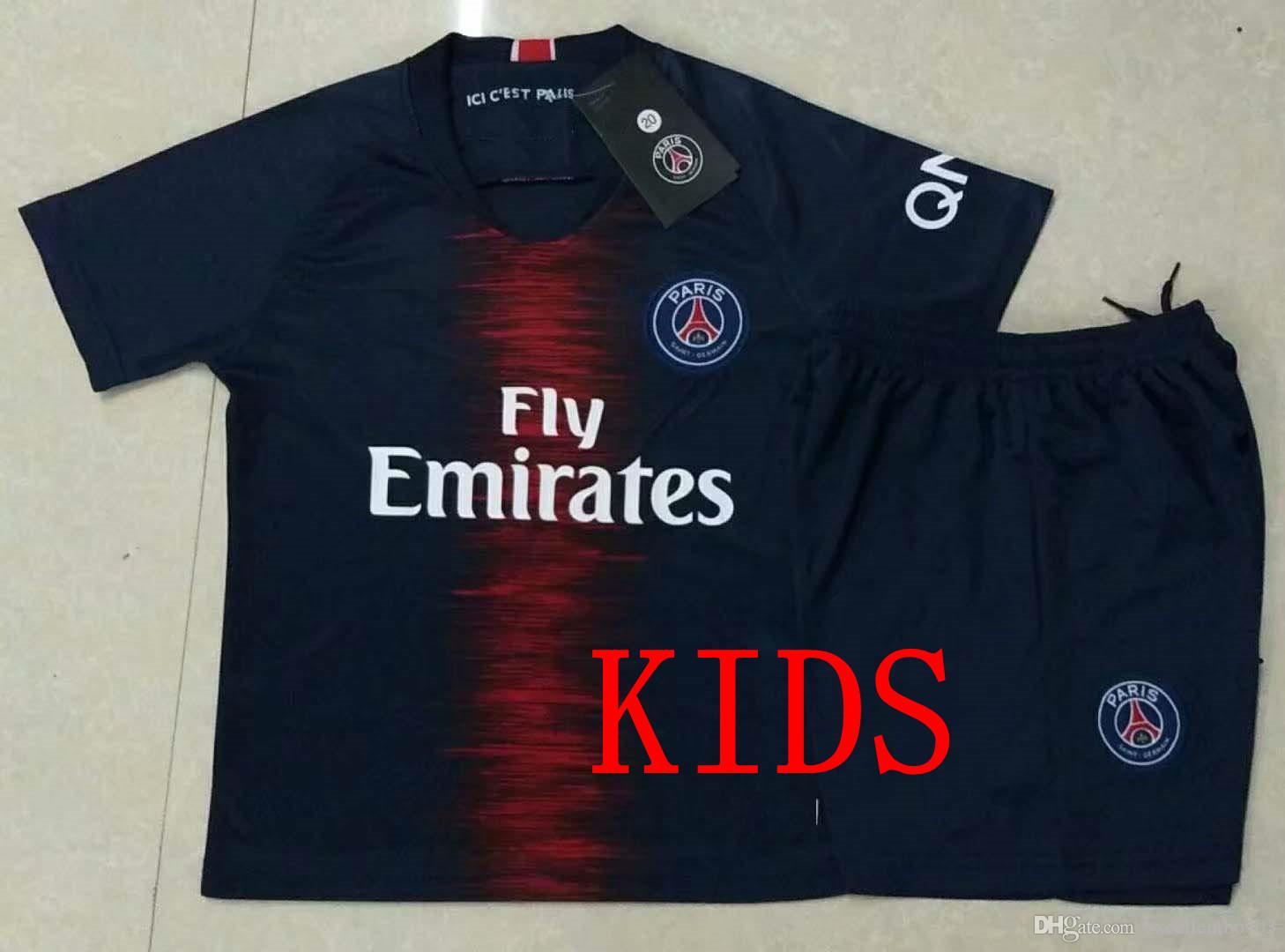 Compre CRIANÇAS S 2XL 18 19 PSG   7 MBAPPE Camisa PSG Camisa Do Miúdo Paris  Tshirt PSG Crianças Kit Uniforme De Futebol Camisa Do Miúdo A1 De  Excellentboy03 ... 0911e9685d624