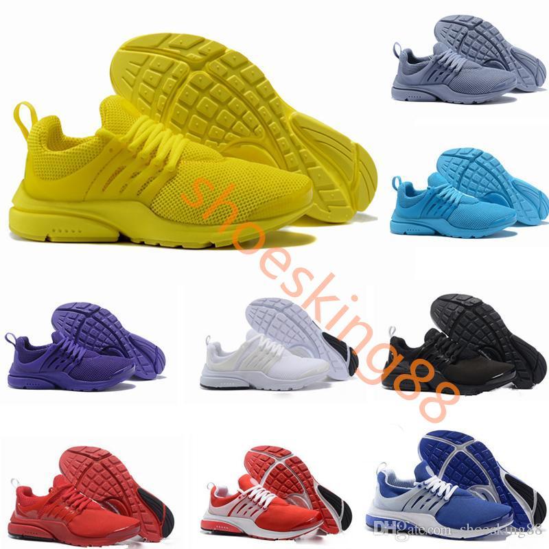 Neue PRESTO BR QS Atmen Gelb Schwarz Weiß Herren prestos Schuhe Turnschuhe Frauen, Laufschuhe Für Männer Sportschuhe, Walking Designer Schuhe