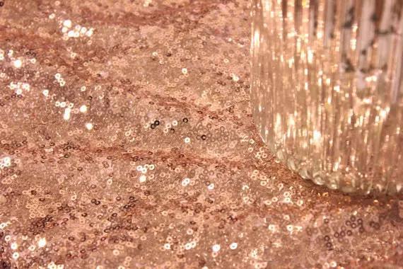 Bling Bling Rosa Rosa Lentejuelas Cubiertas de tabla Mantelería de boda con lentejuelas para bodas Venta al por mayor Champagne Confetti Table Sequin Lino