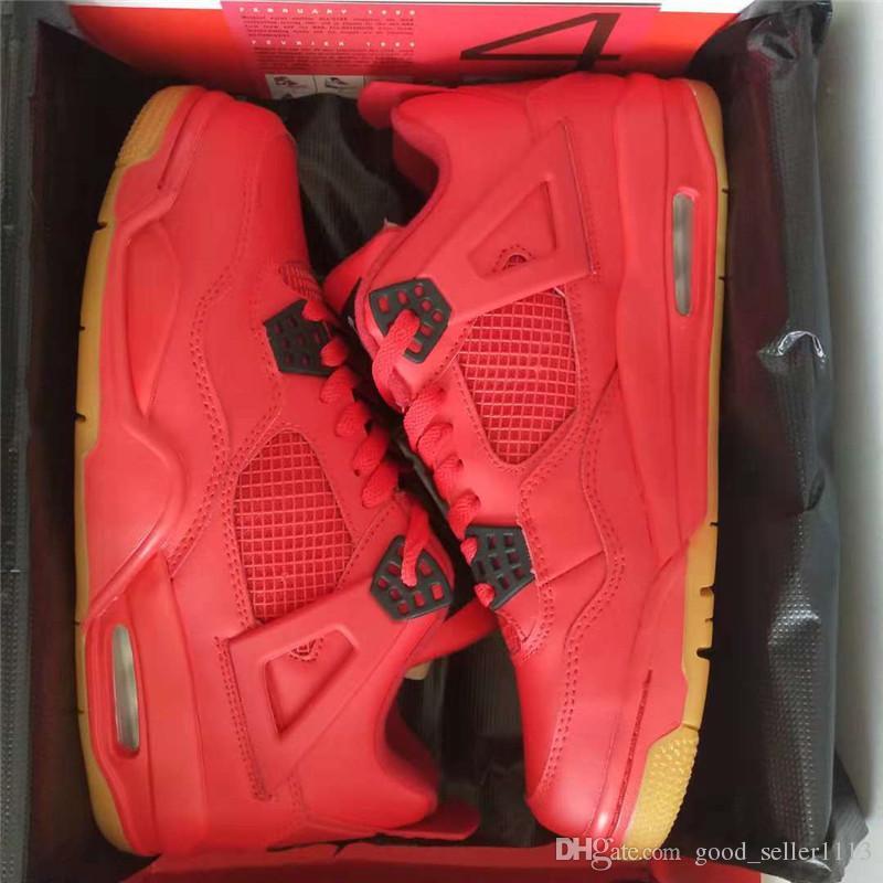 e66fcbb22656 US5.5-13 Original 4 IV Singles Day AV3914-600 Basketball Shoes 4s ...