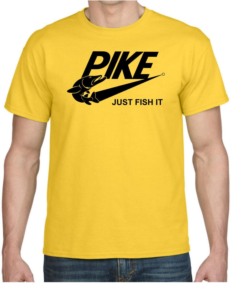 ca88aa35 Details Zu PIKE JUST FISH IT Funny Pike Fishing Spinning Cool Gift Birthday  Parody T Shirt Funny Unisex Tee Raid Shirt T Shirts In A Day From  Tshirt_press, ...