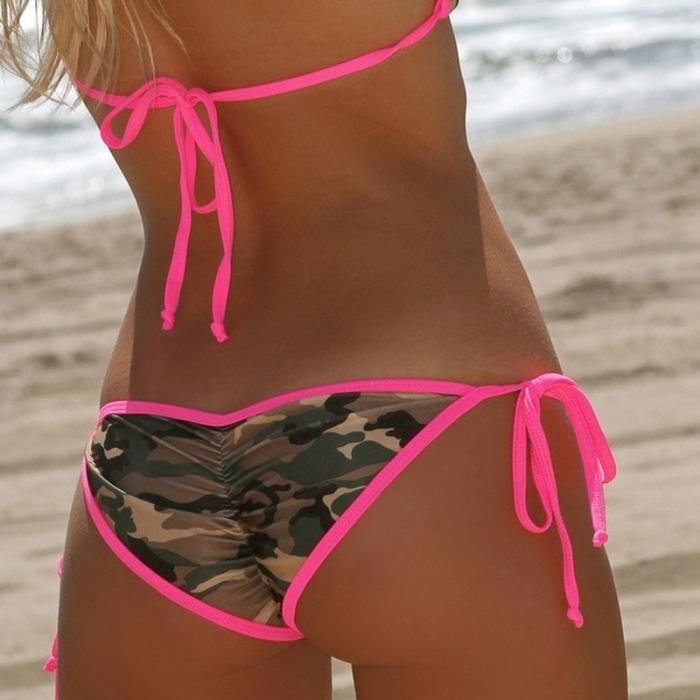 Les femmes sexy maillot de bain Bikini camouflage Soutien-gorge push-up + Culotte Maillots de bain Camo Bandage Maillot de bain femme armée verte de bain Porter