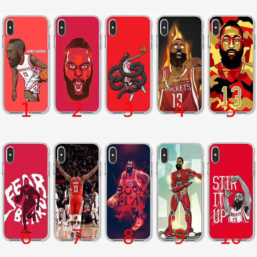cheap for discount c39d9 f2700 James Harden Soft Silicone TPU Case for iPhone X XS Max XR 8 7 Plus 6 6s  Plus 5 5s SE Cover
