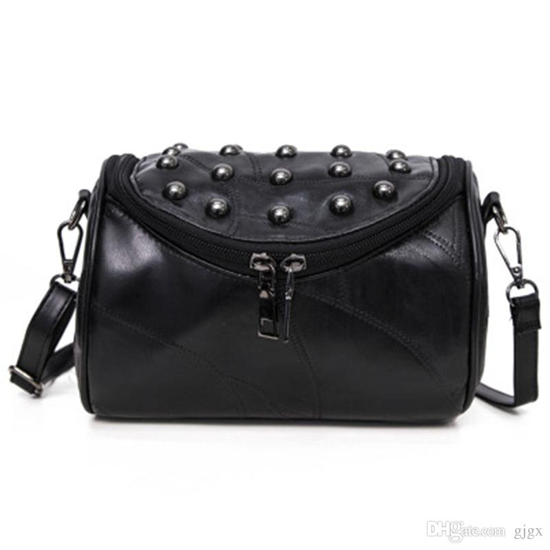2018 New Women s Bag European And American Fashion Trend Rivet ... 9e384fd403ac7