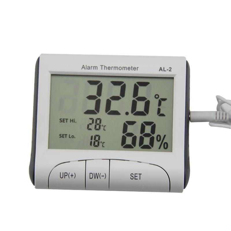 Digital Lcd Temperatur Und Feuchtigkeit Meter Uhr Alarm Office & School Supplies