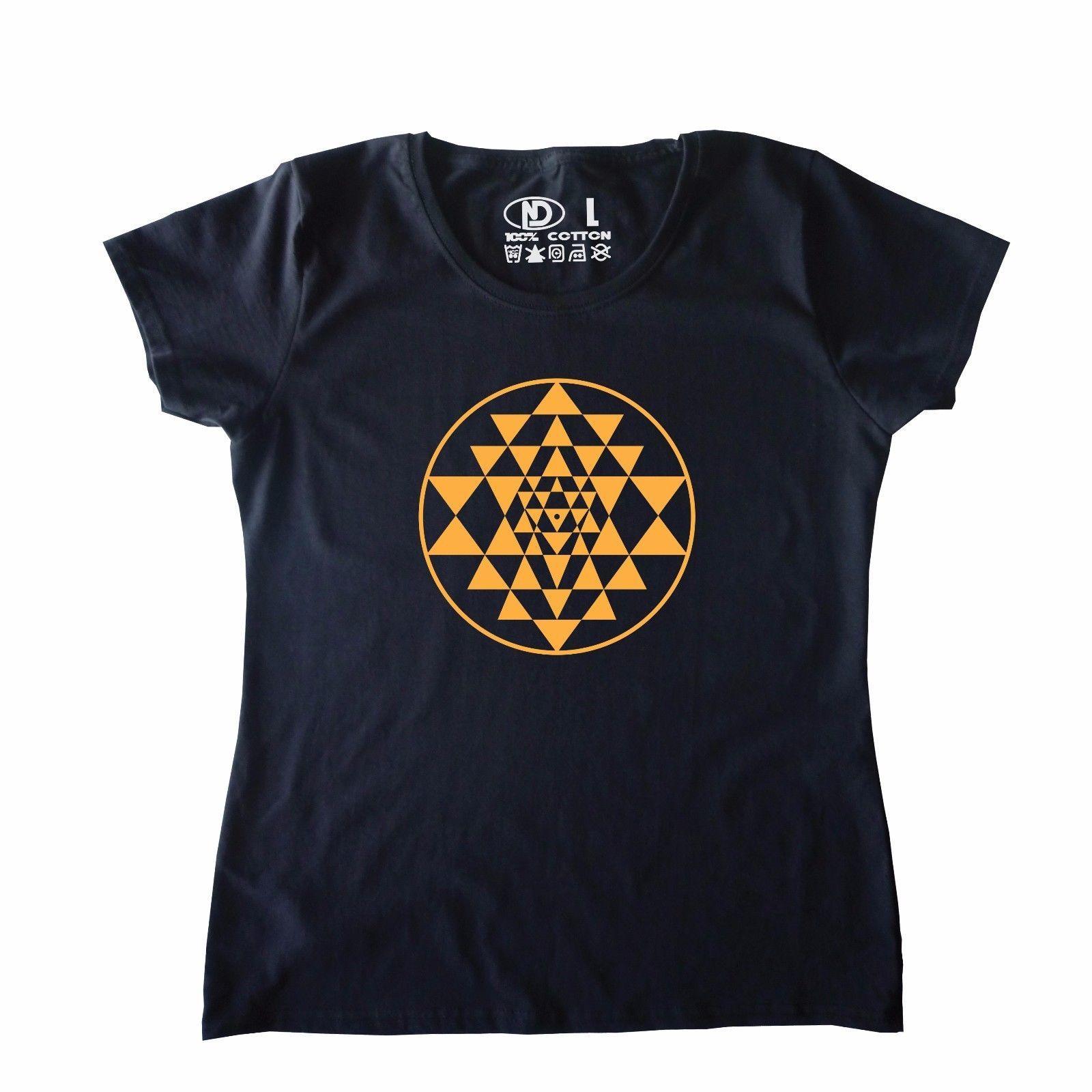 05277db38fe4d Acheter Conducteur Cosmique Du T Shirt Des Femmes De Logo De Sri Yantra  Logo De L'énergie De $10.9 Du Bangtidyclothing | DHgate.Com
