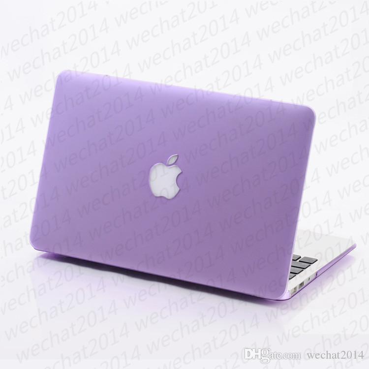 """Rubberized Frosted Matte Hard Shell Laptop Cases Full Body Protector Case Cover for Apple Macbook Air Pro 11'' 12'' 13"""" 15"""""""