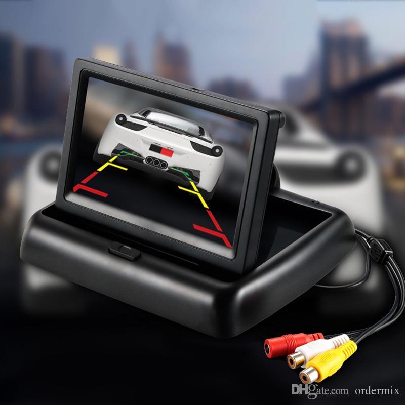 Nuovo video da 4.3 pollici Car Video Player HD pieghevole Monitor auto Display LCD TFT Vista posteriore Schermo monitor Pannello digitale a colori Car Rear View