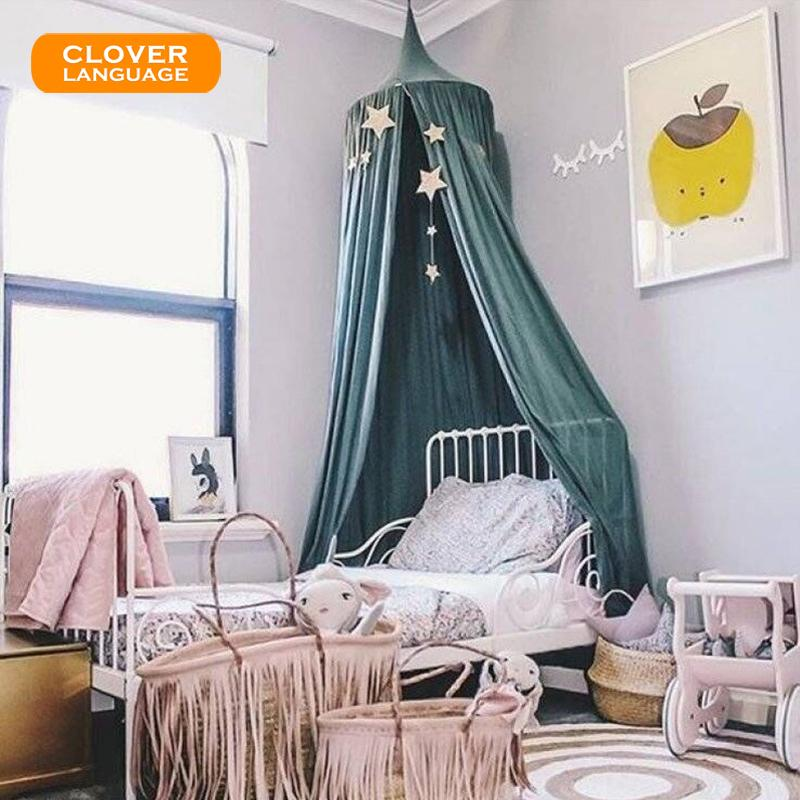 Clover Language Dome Childrenu0027S Bed Tent Hanging Dome Play Tent Bed Curtain  Mosquito Net Baby Kids Room Decor Nordic Style Portable Mosquito Net Bug  Netting ...