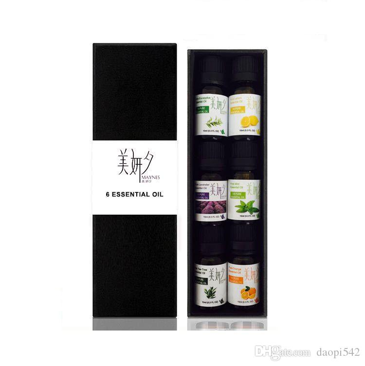Spa Massage Essential Oil Set Top 6 10ml Household Aromatherapy