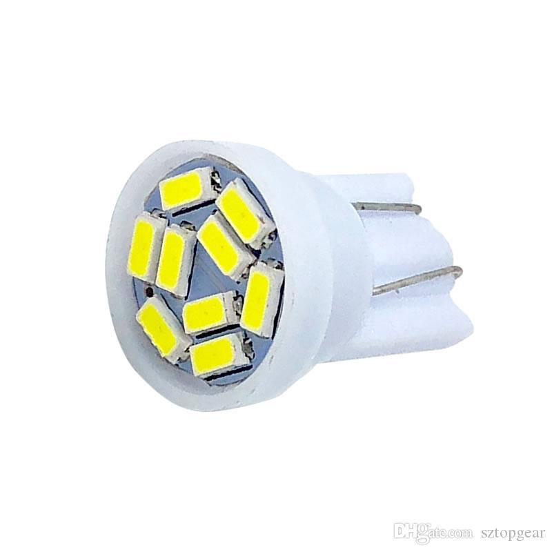 T10 9 SMD 3014 Led W5W 194 168 Araba Park Işık Okuma Ampuller Otomatik Plaka Gösterge Lambaları DC 12 V Beyaz