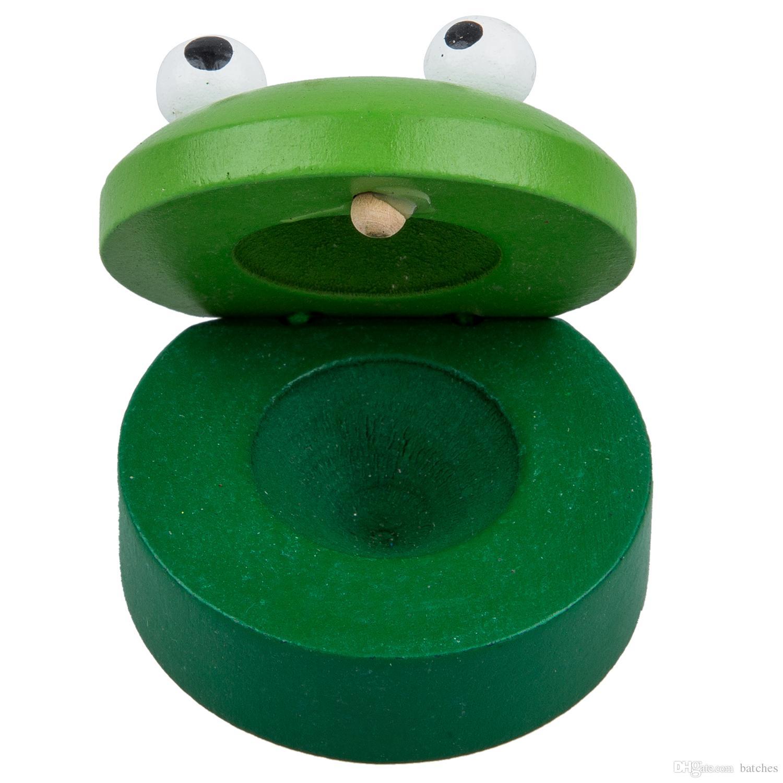 2018 Instrument Wooden Castanet Preschool Education Toy Random ...
