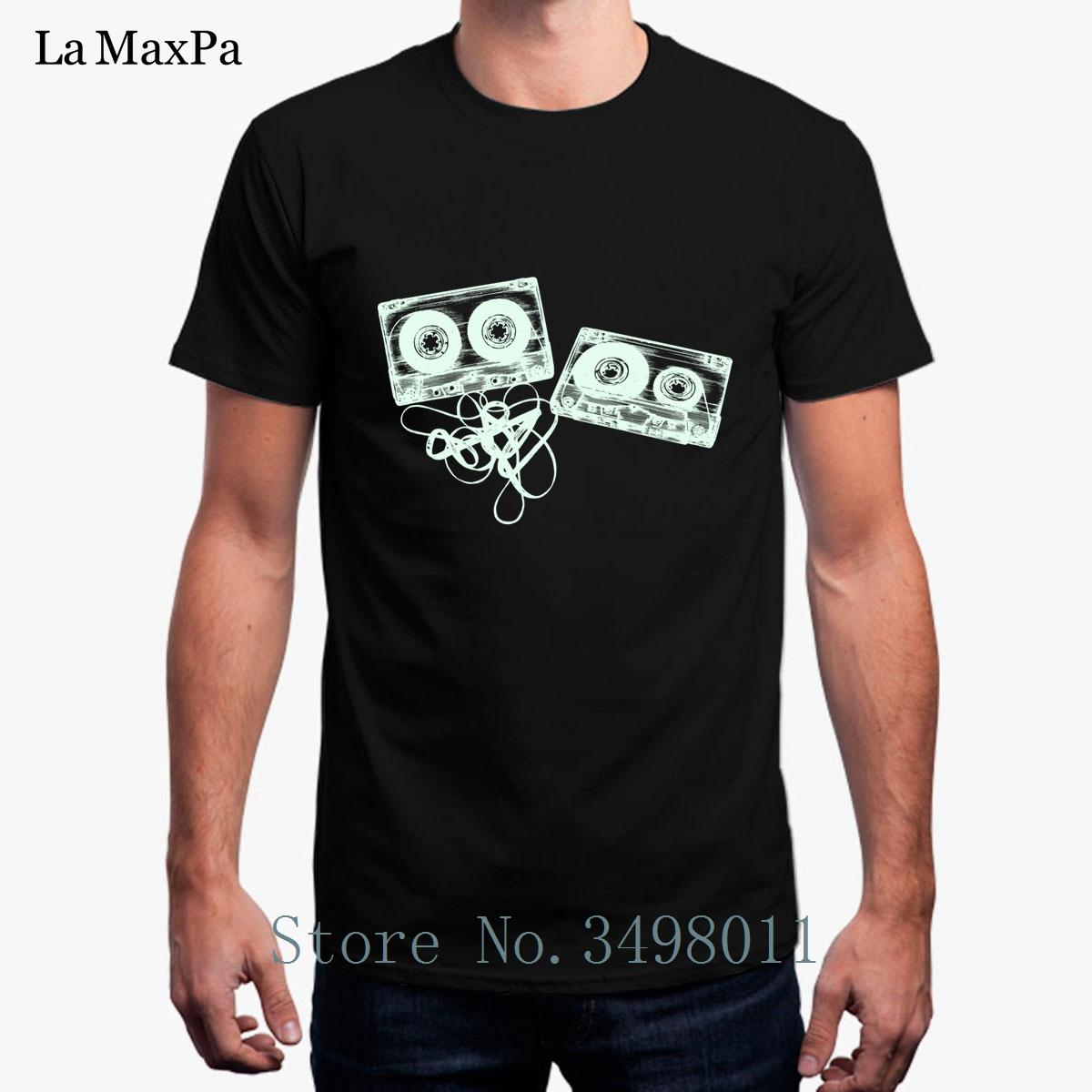 Top Quality Tshirt For Men Old School Music Tapes Clothes Men T-Shirt  O-Neck Summer Short Sleeved T Shirt S-3xl Design Tops