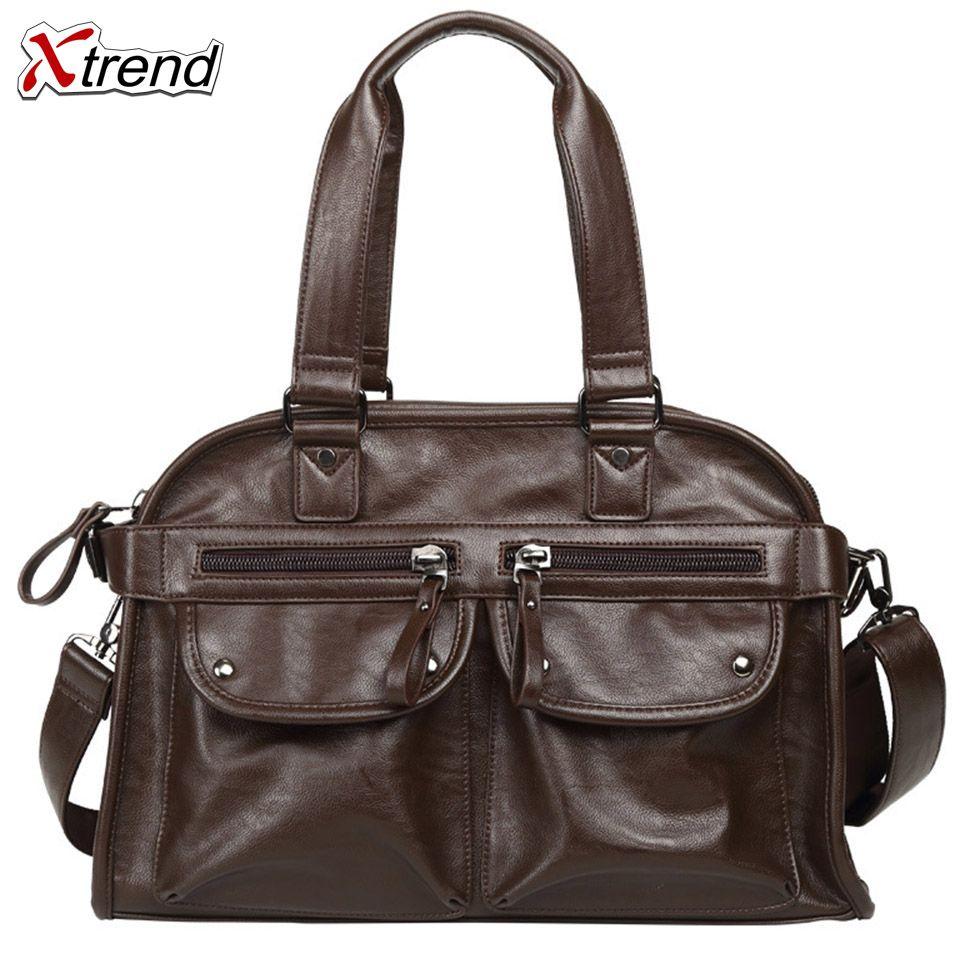 f9d924e085 Xtrend Business PU Leather Handbag Men Crossbody Travel Vintage Oversized  Weekender Duffel Bag Overnight Handbag Black Coffee Patricia Nash Handbags  Womens ...