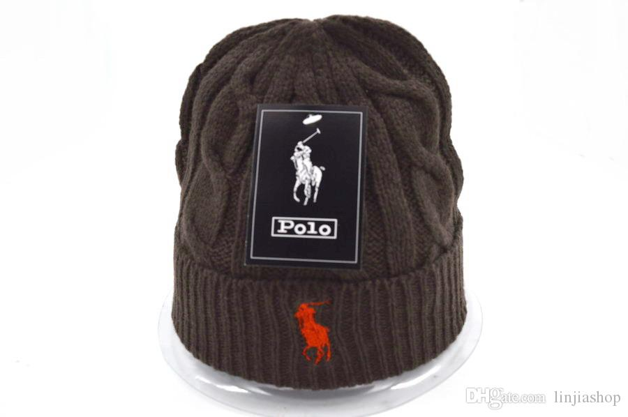 13abb70828026 High Quality Fashion Design Ski POLO Beanies Winter Hats For Men Women  Knitted Beanie Wool Hat Man Knit Bonnet Gorros Touca Thicken Warm Cap Knit  Beanie Cap ...