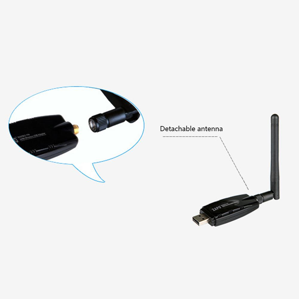 300Mbps Wireless USB Network Card Adapter Wi-Fi Receiver WIFI Adaptor with External Antenna for Desktop PC