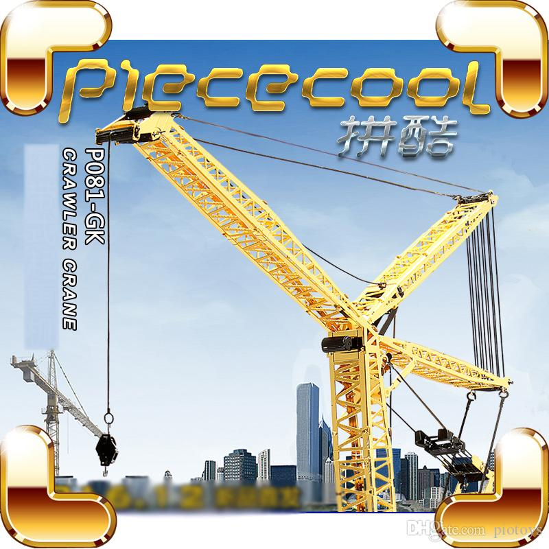 New Year Gift Crawler Crane 3D Model Building Equipment Metal DIY Assemble  Game Educational Toys Alloy Collection IQ Present