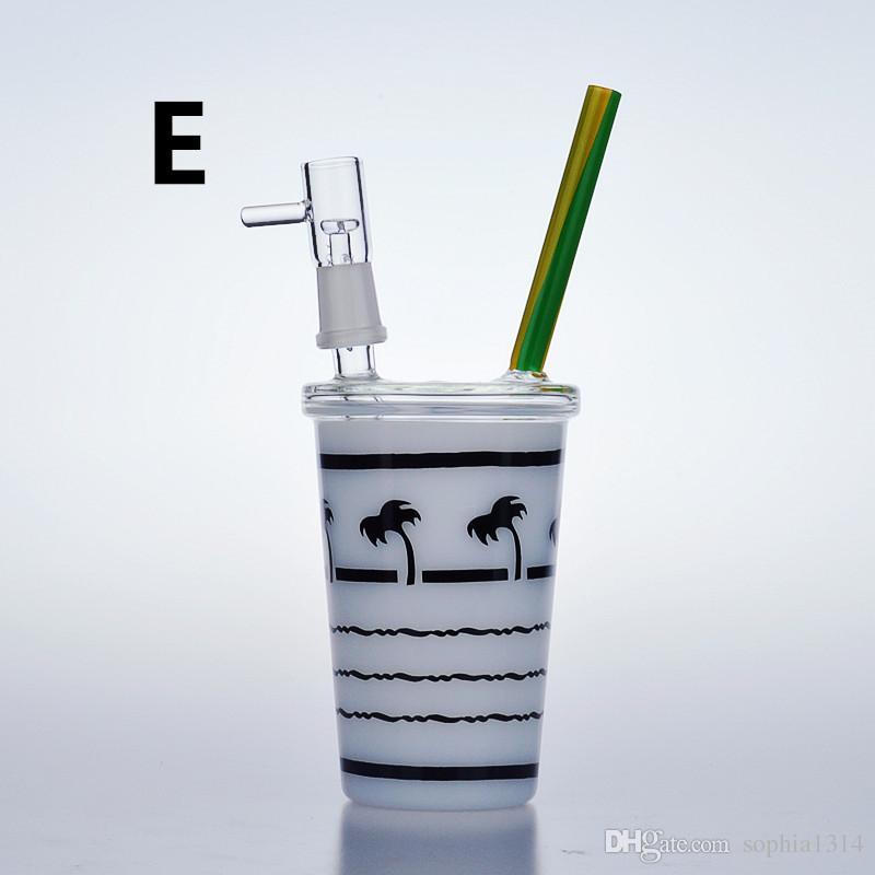 Starbucks Cup Small water bongs mini glass pipes rigs oil dab beaker bowl bubbler Hookah joint 14mm