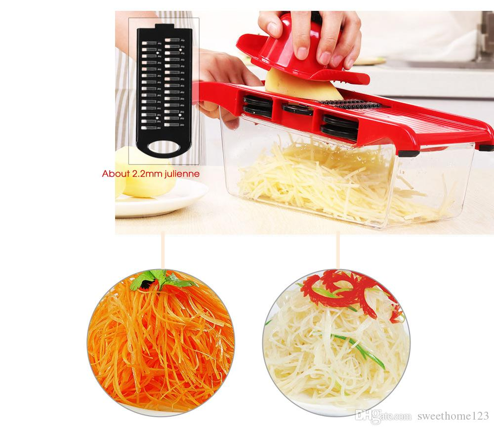 Set Manual Potato Slicer Vegetable Fruit Cutter Stainless Steel Mandoline Onion Peeler Carrot Grater Dicer Kitchen Tool