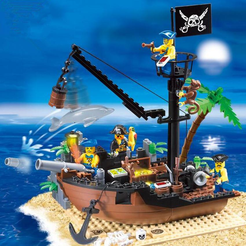 Bricks Toys Diy Pirate Ship Building Blocks Bricks Educational