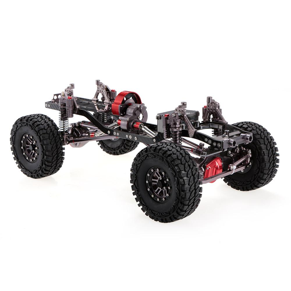 Rc Racing Cnc Aluminum Metal And Carbon Frame For Rc Car 1/10 Axial ...