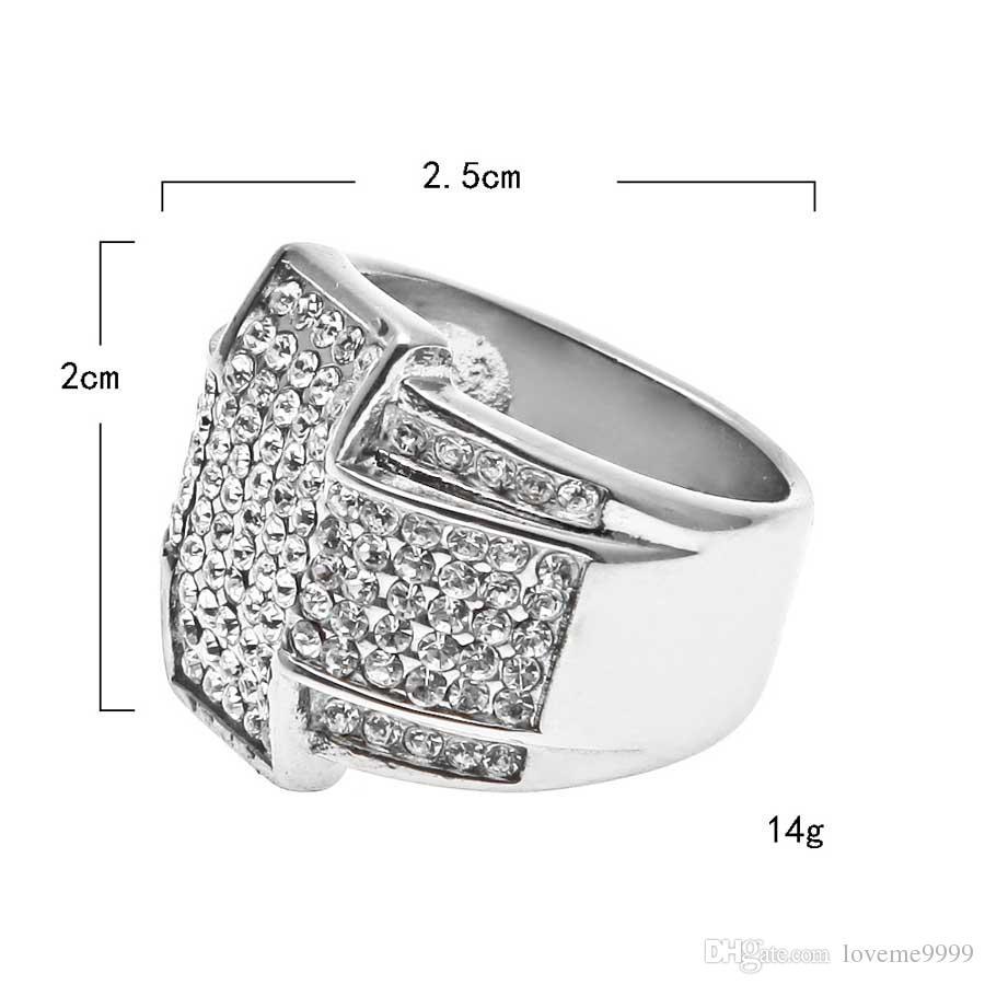 Нержавеющая сталь 316L кубический цирконий кольца высокое качество микро проложить CZ крест кольца женщины мужчины золото хип-хоп палец кольцо