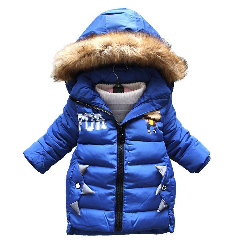 26cbb30b2c638 BibiCola `Girls Winter Clothing Warm Down Jacket For Boys Clothes Winter  Thicken Parka Real Fur Hooded Children Outerwear Coats Parka Coats Boys  Best Winter ...