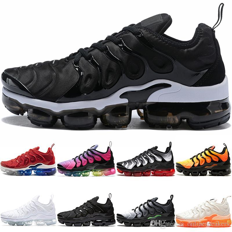 buy online edc3b dd15e Nike Air TN MÁS Hombre Zapatillas De Deporte Para Mujer SER VERDADERO  Amarillo Triple Negro Blanco Hiper Azul Voltio Hombres Zapatillas De  Deporte De Diseño ...