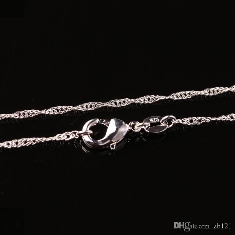 Monili sexy dei monili di modo della catena dell'argento 925 della catena dell'onda dell'acqua di / Womne Nizza all'ingrosso della ragazza