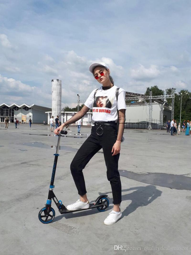 ea1ab53e4 Geckoistai Harajuku Pulp Fiction Ins Hot Style Life Is Boring Tshirt Leer  Printed Nosebleeds Women Loose Short Seeve T Shirt Rude Tshirts Offensive  Tee ...