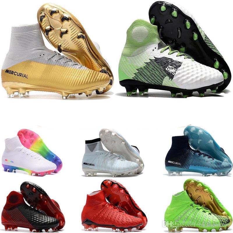 New Soccer Cleats Ronaldo Mercurial Superfly CR7 V FG ACC Football Shoes Neymar Soccer Shoes Kids Youth Womens Mens Magista Football Boots free shipping latest discount shop lowest price for sale uDDSRdeQ4T