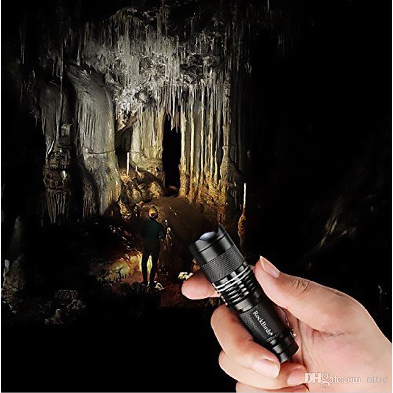 Rockbirds светодиодный фонарик, A100 Mini Super Bright 3 режима тактический фонарь, лучшие инструменты для туризма, охоты, рыбалки и кемпинга от ottie