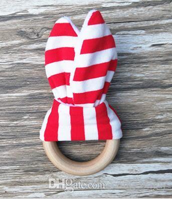 New Baby Beißring Holzring Baby Molaren Zähne Trainingsspielzeug Kleinkinder Hand Rasseln Neugeborenen Babys Geschenk Übungen Spielzeug Zähne Trainingsspielzeug KKA1
