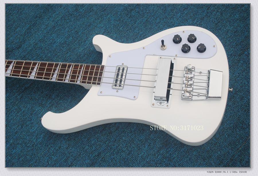 Guitarra baixo Nova Chegada Branco 4 Cordas 4003 Baixo Elétrico de Alta Qualidade Frete Grátis