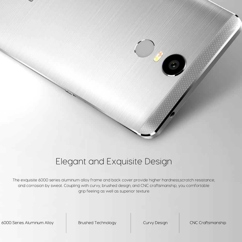 Original Bluboo Maya Max Smartphone Fingerprint 6.0 pulgadas Android 6.0 MT6750 Octa Core teléfono móvil 3G / 32G Dual SIM 4G teléfono celular