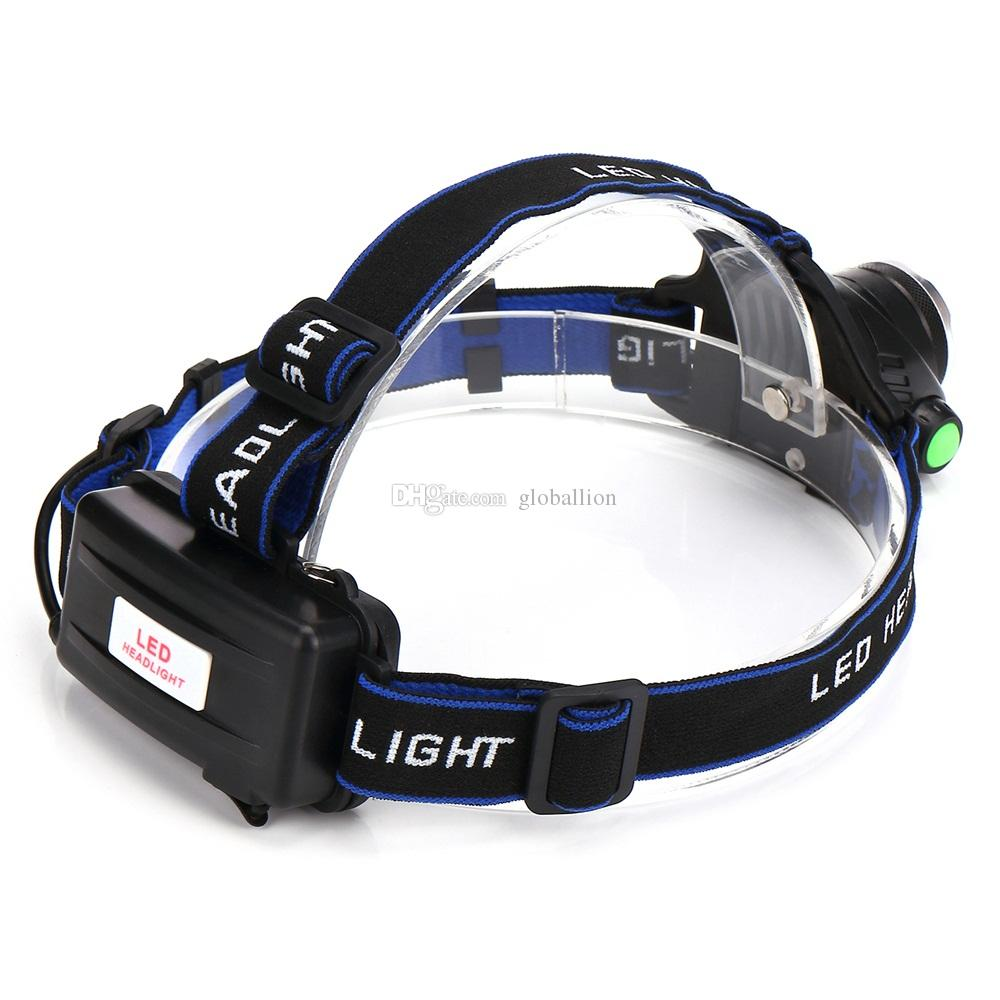 AloneFire HP79 CREE XM-L2 LED 4000 Lumens Rechargeable Zoom Headlight LED Headlamp CREE For 2x18650 Battery+ Charger+Car charger