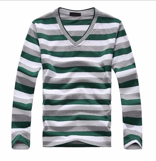 TFGS arrival 2016 men's long-sleeved cotton stripes sweater fashion and hot pullover men brand new of